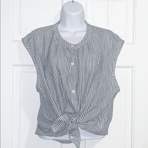 Old Navy Pinstripe button up tank top